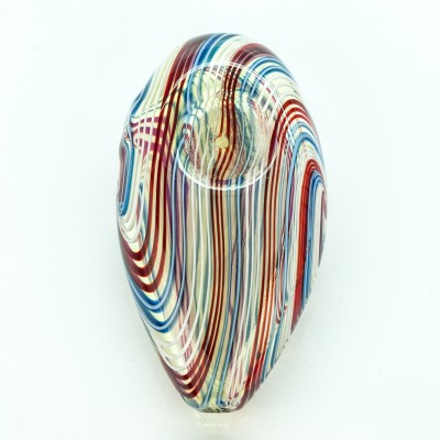 """Spoon Glass Pipe 3"""" Swirl Lines"""